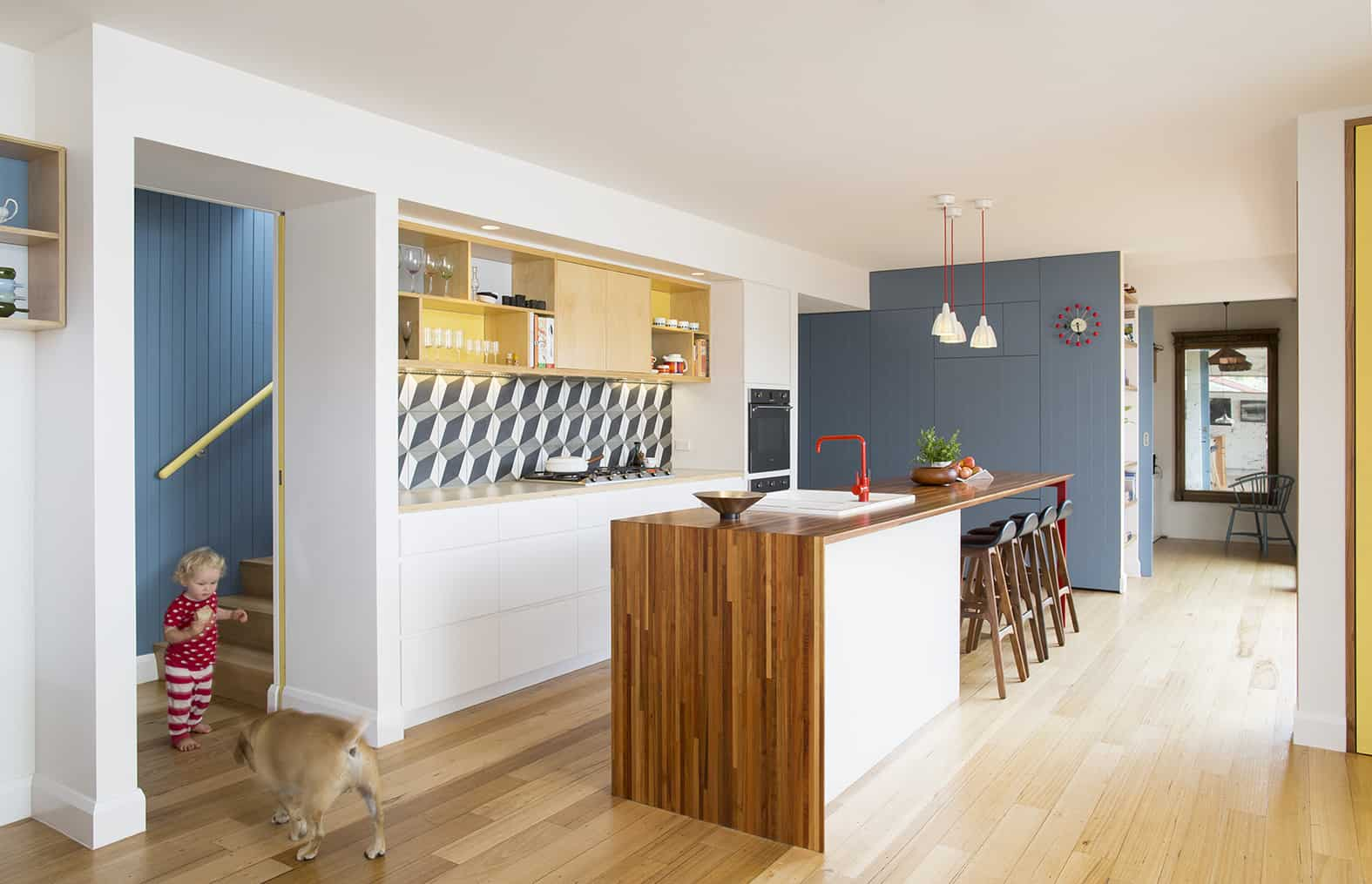 Funky Melbourne laneway architecture with electic interiors