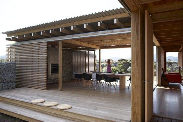 Moody light and shady verandahs on Great Barrier Island