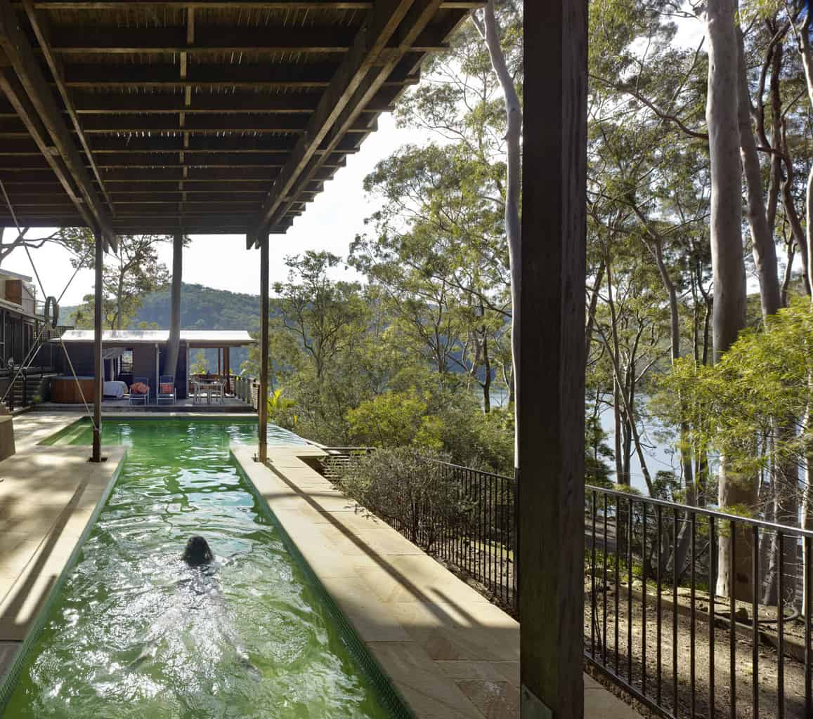 2 cottage point lap pool