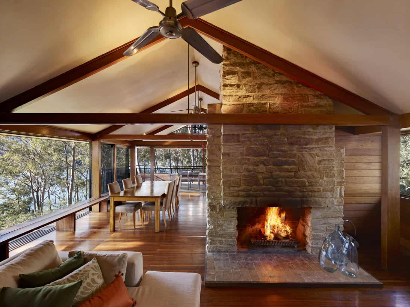 2 cottage point open fire place