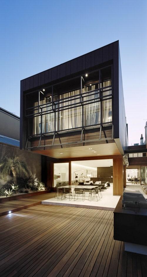 Black and bold Melbourne home design
