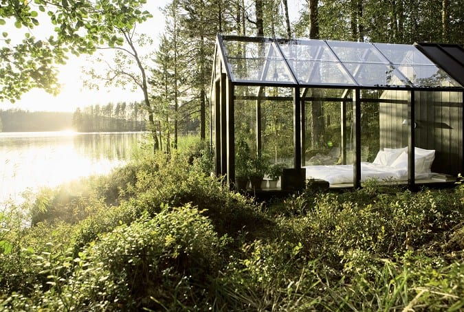 Garden shed with a view