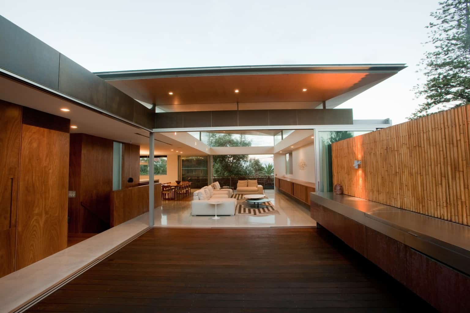 Living room and deck with modern asian design, modern asian architecture, Virginia Kerridge, White Rock