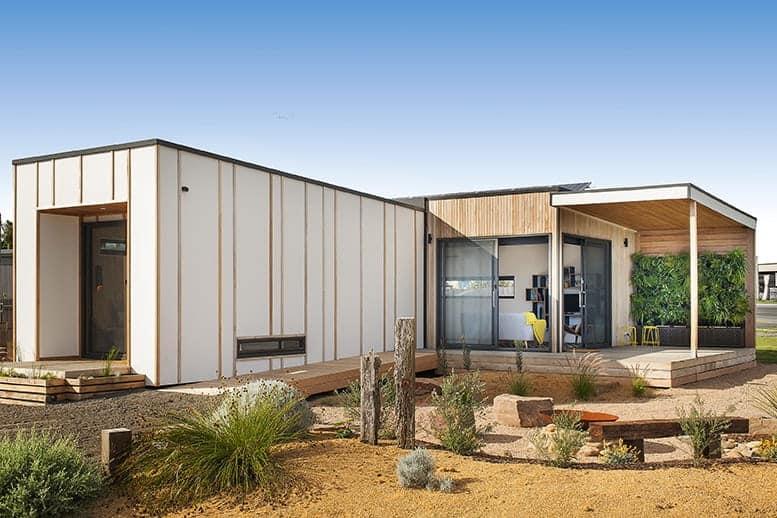 Sustainable prefab bushland retreat