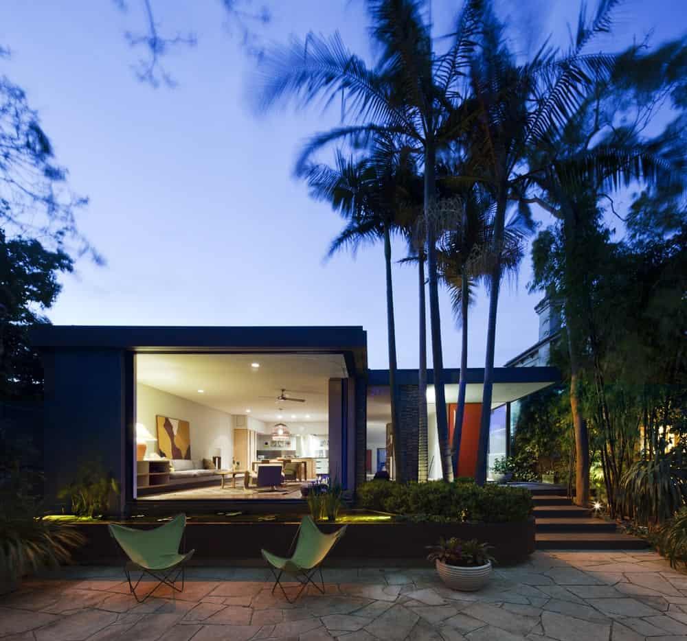 Architectural makeover evokes a sense of living in the garden