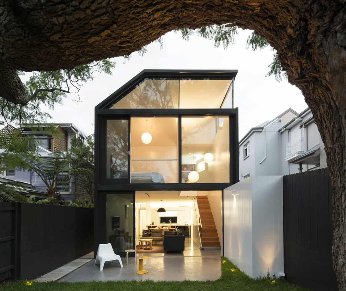 Minimalist geometrical architecture for Sydney abode