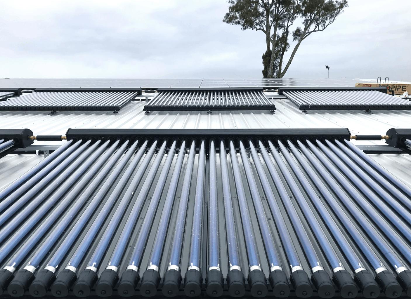 evacuated tube solar hot water