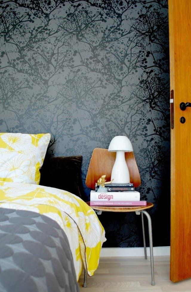 ferm living wallpaper wilderness black