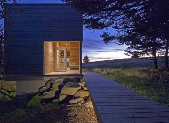 Warm minimalism for serene spa pavilion in Nova Scotia