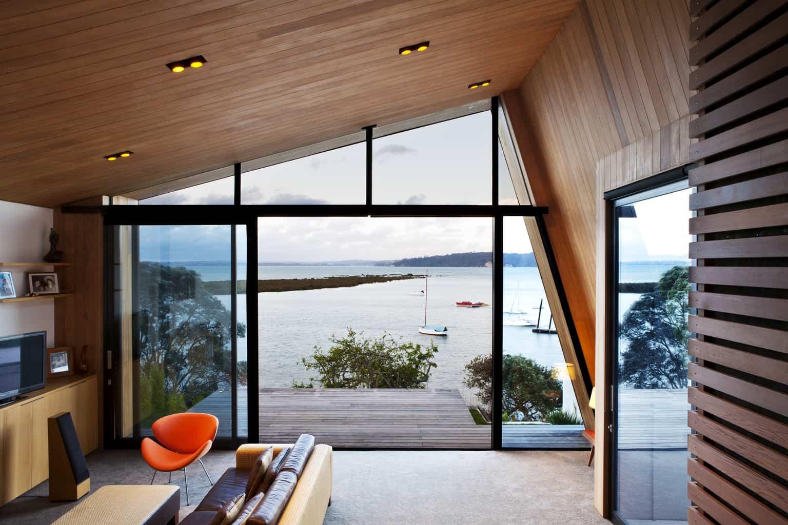 Zinc + cedar architecture with a view