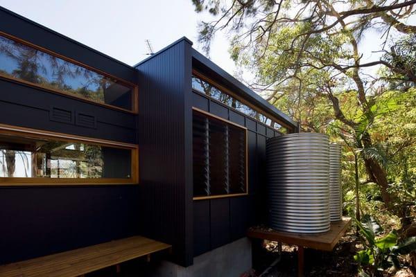 rain water tank sustainable house
