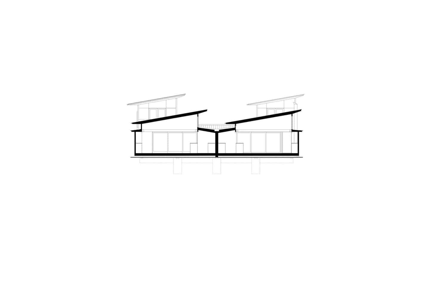 section sketch of bourne blue boomerang beach architecture