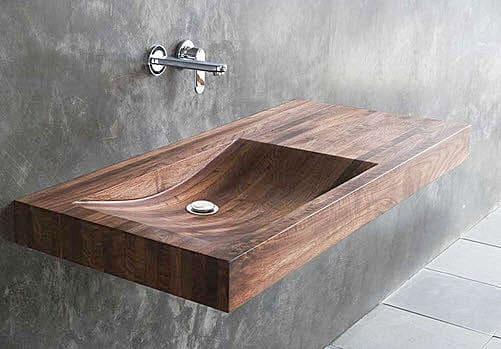 Desiring: this timber wash basin